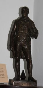 bronze statuette of robert burns by gamley